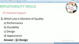 Employability skills Questions and Answer 2019paper iti
