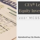 CFA Level 1 (2020) Equity Investments - 200+ Questions | Finance & Accounting Finance Cert & Exam Prep Online Course by Udemy