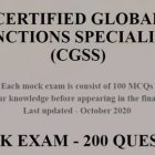 CGSS - 2 MOCKS EXAMS | Finance & Accounting Compliance Online Course by Udemy