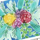 Bright Loose Watercolor Bouquet | Personal Development Creativity Online Course by Udemy