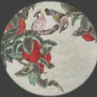 Relax With Chinese Painting - Persimmon and Waxwing   Personal Development Stress Management Online Course by Udemy
