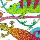 Art for kids: Reptile Camouflage Art-Easy