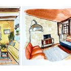 Travel Sketching: Interiors in One and Two Point Perspective | Lifestyle Arts & Crafts Online Course by Udemy
